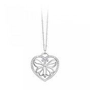 2Jewels Carpe Diem 80 cm 251454 Necklace Stainless Steel with Cubic Zirconia Heart & Butterfly