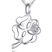 Ashley Jeweller Tiny Four Leaf Clover Necklace 925 Sterling Silver Luck Lucky Good Luck NEW