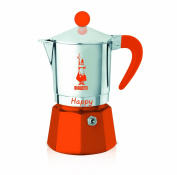 Bialetti 0008042 Happy With 3 Cups Aluminium Coffee Maker