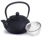 Cast iron tea kettle combines both a kettle and a teapot.