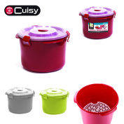 Cuisy KC2229 Steam Microwave Casserole Dish 20.5 x 14 x 21 cm Plastic Red/Grey/Green