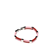 Rubber Bracelet with Stainless Steel Combined