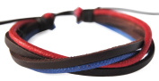 Axy Bea3. Beach Surfer Leather Bracelet Leather Bracelet