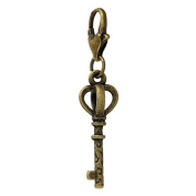 Ladies / 22059 / Charm Trailer For Bracelet bronze Key 40x8mm