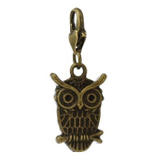 Ladies / 22058 / Charm Trailer For Bracelet bronze Owl 36,5x15mm