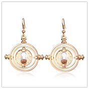 Harry Potter Hermione rotating time turner Drop Earrings for women Harry Potter Costume Jewellery