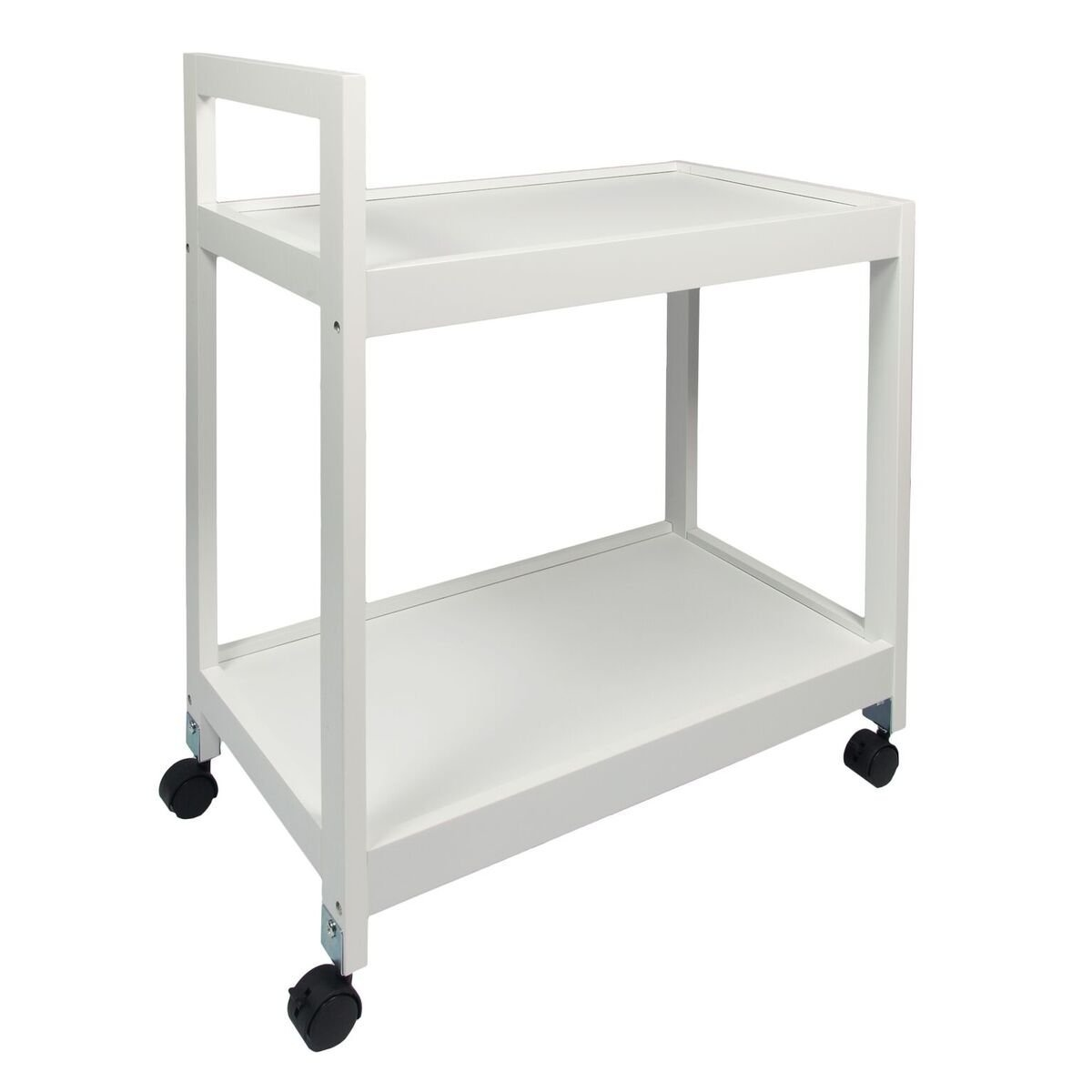 Woodluv Mdf 2 Tier Kitchen Storage Serving Trolley Island Cart With ...