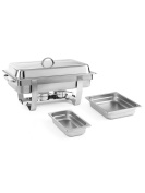 Hendi 471050 Chafing Dish Set Stainless Steel Silver, 58.5 x 38.5 x 31.5 cm