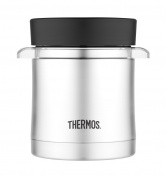 Thermos 0.35 Litre Premium Micro 4006.205.035 Food Storage Container, Stainless Steel Steel/Black