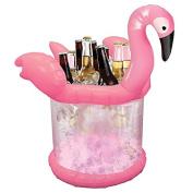 Flamingo Inflatable Ice Bucket Pink Drinks Bottle Glass Ice Holder