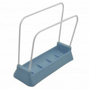 Home Kitchen Stainless Steel Cutting Board Pot Cover Sponge Cleaning Cloth Storage Drain Support Holder Organiser Stand Blue