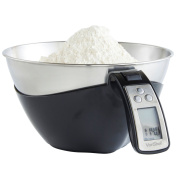 VonShef Electronic Digital Kitchen Jug Scales with Large 5kg Capacity - Stainless Steel - FREE 2 Year Warranty