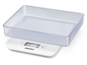 Soehnle Kitchen Scale Compact, Stainless Steel, White