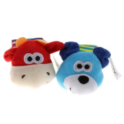 Cute Wrist Rattles Educational Soft Infant Baby Toy Dog & Cow