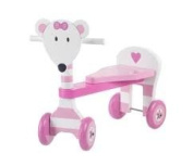 Girls Wooden Trike, Ride on Mouse,  .  , super 1st birthday present, FREE giftwrap