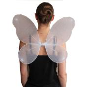 New Ladies Adult Net Fairy Wings with Silver Glitter Women's Fancy Dress Parties Accessories
