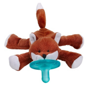Wubbanub Brown Baby Fox Pacifier Holder with Soothie Pacifier