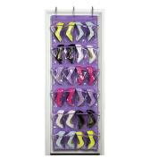 Clode® Clear Collection 24-Pocket Over The Door Shoe Organiser Storage Hanging Bag