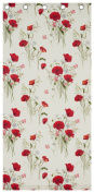 Catherine Lansfield Wild Poppies Eyelet Curtains, 170cm x 180cm - Multi
