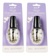 Nail Strengthener Pck 2 Fortifiant Beauty Cosmetic Nail Care Strength Brush