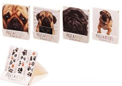 Cute Mini Pugs Kisses Design Nail File Matchbook Dog Emery Board Manicure Party Bag Filler Pocket Animal Gift Present Ladies Birthday
