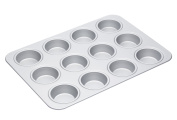 Master Class Silver Anodised Large 12-Hole Muffin Tin / Baking Pan, 42 cm