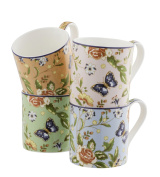 Aynsley Cottage Garden Windsor Mugs, Set of 4