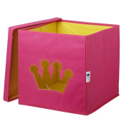 Store.It 750 008 Toy Box with Crown Shaped Window 30 x 30 x 30 cm Pink