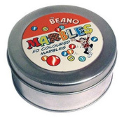 The Beano Comic Marbles Tin 50 coloured marbles
