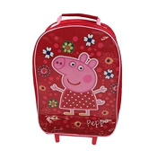 PEPPA PIG GIRLS WHEELED BAG TRAVEL HAND LUGGAGE CABIN SUITCASE HOLIDAY BAG NEW