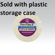 Pro Flex II Hair Extension Tape Double Side Adhesive 0.8cm X 6 yrd w/ Plastic storage case