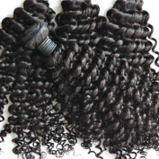 "Miss Wang Brazilian Virgin Remy Human Hair Extension Weave 4 Bundles 400g - Natural Black, 8""8""8""8"", Curly Wave"