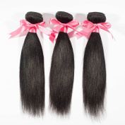 "Miss Wang Indian Virgin Remy Human Hair Extension Weave 3 Bundles 300g - Natural Black, 8""8""8"", Straight"