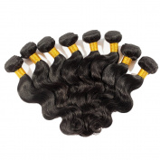 "Miss Wang Peruvian Virgin Human Hair Extension Weave 4 Bundles 400g - Natural Black, 8""8""8""8"", Body Wave"