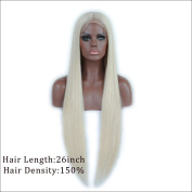 7A 150 Density Front Lace Wig For Black Women with Baby Hair Brazilian virgin Human Hair Glueless Front Lace Wig