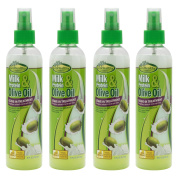 Sof N'Free Milk Protein & Olive Oil Leave-In Treatment Refreshing Spray (240ml) Pack Of 4