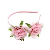 Coco love Camellia Headband Flower Hair Hoop Party Wedding Headpiece for Women Girls