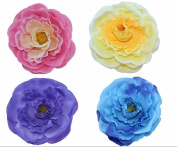 Coco love 4 pcs Camellia Hair Clip and Hair Pin Hat Decoration Flower