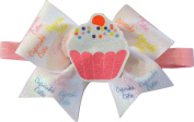 SBC Cupcake Cutie Bow Little Satin Headband Bow