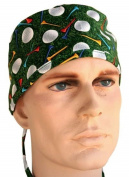 USA Made Golf Ball Tees Medical Scrub Cap Sweatband Adjustable Ties Doctor Nurse Vet Aid Dentist