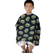 Child Salon Hairdressing Hairdresser Hair Cutting Gown Barber Cape Wrap Cloth Barbers Waterproof Capes Black