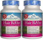 RidgeCrest Herbals Hair Revive Natural Defence Fights Women's Hair Loss Veg Caps 120