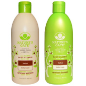 Nature's Gate Herbal Daily Cleanse Shampoo and Nature's Gate Herbal Daily Cleanse Conditioner Bundle With Sage, Lavender and Rosemary, 18 fl oz (532 ml) each