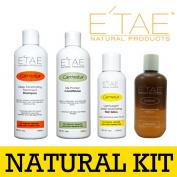 Etae Natural Products Carmelux Shampoo Conditioner Gloss Treatment Kit