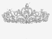 LY8 Fashion Women Bling Crystal Bridal Princess Tiara Crown Hair Comb for Weddings Parties Proms