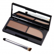 2 Colours Makeup Eyebrow Powder Waterproof Palette Kit with Brush & Mirror Beauty Cosmetics
