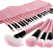 eBoTrade Dirct® 32PCS Pink Makeup Brushes Kit Cosmetic Make Up Tool Set Eyeshadow, Eyebrow, Eyelash, Eyeliner, Lip, Powder, Blush, Face, Concealer, Foundation, Blusher Brush
