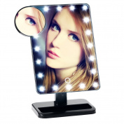 SUNTOP LED Lighted Makeup Vanity Mirror, 20 Light Bulbs and 10X Magnifying Spot Mirror