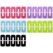 BMC Latex-Free U-Shaped Cuticle Protecting Adhesive Nail Art Tapes - 5 Sheet Set