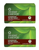 Desert Essence Cleansing Bar Tea Tree Therapy With Eco-Harvest Tea Tree Oil, 150ml (142 g)